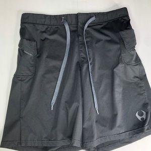 Hylete Mens Black M Above Knee Cross Fit Shorts